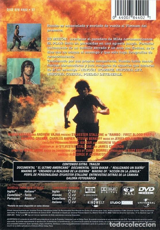 Rambo Acorralado Parte Ii Sylvester Stallone Comprar Películas En