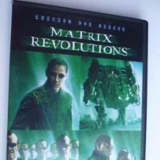 Cine: CINE DVD: MATRIX REVOLUTIONS - DOBLE DVD *IMPECABLE*. Lote 140549306