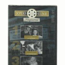 Cine: DVD JOYAS DEL CINE, GENERO VAQUEROS, TRES PELICULAS. Lote 140704782