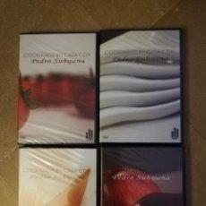 Cine: COCINANDO EN CASA CON PEDRO SUBIJANA (4 DVDS PRECINTADOS). Lote 140719910