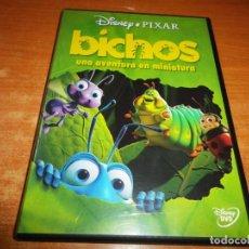 Cine: BICHOS UNA AVENTURA EN MINIATURA DVD DEL AÑO 2001 DISNEY PIXAR DIBUJOS ANIMADOS. Lote 141124894