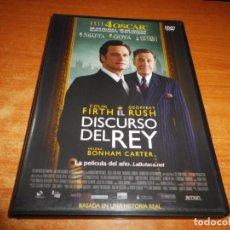 Cine: EL DISCURSO DEL REY DVD DEL AÑO 2011 ESPAÑA COLIN FIRTH GEOFREY RUSH HELENA BONHAM CARTER. Lote 141130554