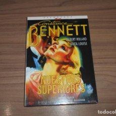 Cine: NUESTROS SUPERIORES EDICION ESPECIAL DVD + LIBRO 24 PAG. CONSTANCE BENNETT NUEVA PRECINTADA. Lote 147943642