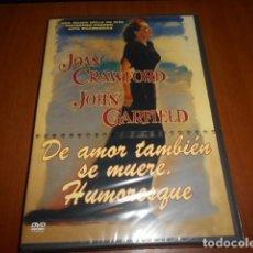 Cine: DVD-DE AMOR TAMBIÉN SE MUERE. HUMORESQUE-PRECINTADA. Lote 141900958