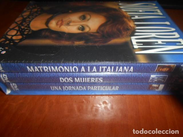 Cine: SOFIA LOREN 3 DVD-MATRIMONIO A LA ITALIANA,DOS MUJERES,UN HORNADA PARTICULAR - Foto 3 - 142047838