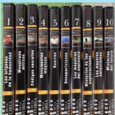 Cine: GRANDES ENIGMAS DE LA HISTORIA COLECCION COMPLETA 10 DVD EDITORIAL OCEANO. Lote 142106146