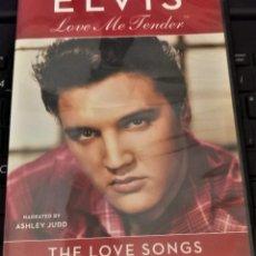 Cine: ELVIS PRESLEY LOVE ME TENDER - THE LOVE SONGS DVD - SUBTITULOS EN ESPAÑOL. Lote 142144666