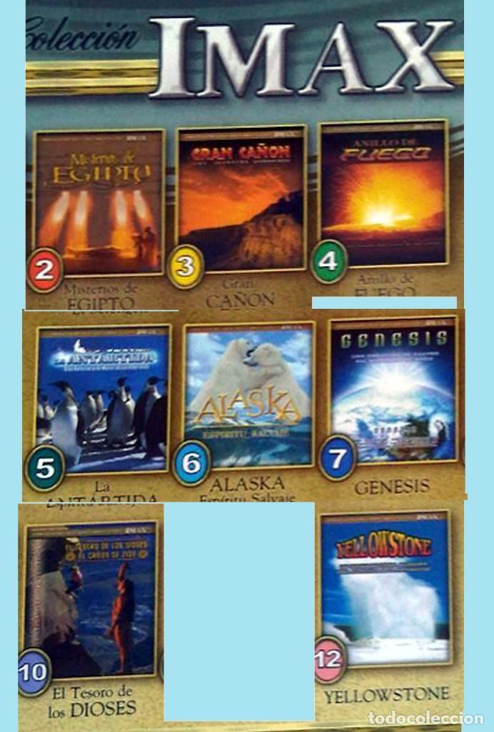 Cine: IMAX COLECCION INCOMPLETA DE 8 DVDS. Del nº 2 al 7 ambos incluidos el nº 10 y 12.Como nuevos. - Foto 2 - 142206450