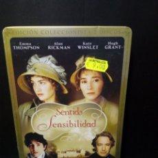 Cine: SENTIDO Y SENSIBILIDAD DVD CAJA METÁLICA. Lote 142952566