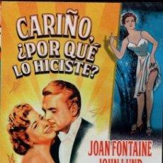 Cine: CARIÑO, ¿POR QUÉ LO HICISTE? DVD - COMEDIA A BASE DE MALENTENDIDOS ...COMO MANDA EL GUION. Lote 143494234