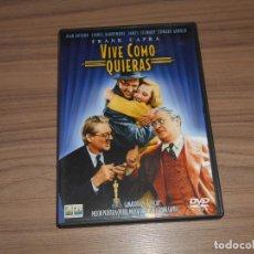 Cine: VIVE COMO QUIERAS DVD DE FRANK CAPRA JAMES STEWART COMO NUEVA. Lote 143710754