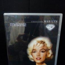 Cine: MARILYN MONROE SUS ÚLTIMOS DÍAS DVD. Lote 179184135