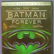 Cine: BATMAN FOREVER - DVD EDICIÓN ESPECIAL 2 DISCOS - VAL KILMER / JIM CARREY / NICOLE KIDMAN. Lote 143894018