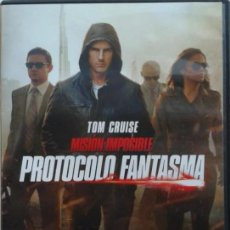 Cine: DVD MISION IMPOSIBLE: PROTOCOLO FANTASMA, CON TOM CRUISE, DIRECTOR BRAD BIRD. Lote 143940026