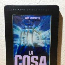 Cine: LA COSA // DVD EDICIÓN METÁLICA CON LIQUIDOS // 1982 - JOHN CARPENTER - PAL. Lote 143963954