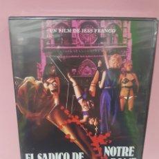 Cine: EL SADICO DE NOTRE DAME ( JESS FRANCO) DVD -PRECINTADO-. Lote 143966768