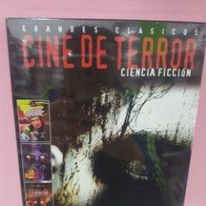 Cine: GRANDES CLÁSICOS CINE DE TERROR CIENCIA FICCIÓN (3 DISCOS) DVD -PRECINTADO-. Lote 143968533