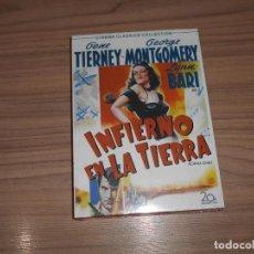 Cine: INFIERNO EN LA TIERRA DVD GENE TIERNEY GEORGE MONTGOMERY NUEVA PRECINTADA. Lote 261693175