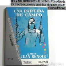 Cine: UNA PARTIDA DE CAMPO - DVD PELÍCULA OBRA MAESTRA DEL CINE - JEAN RENOIR BAS RELATO DE GUY MAUPASSANT. Lote 144250494