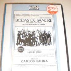 Cine: DVD BODAS DE SANGRE DE F GARCÍA LORCA. ANTONIO GADES. DIRECTOR CARLOS SAURA. 68 MINUTOS (PRECINTADA). Lote 144557610