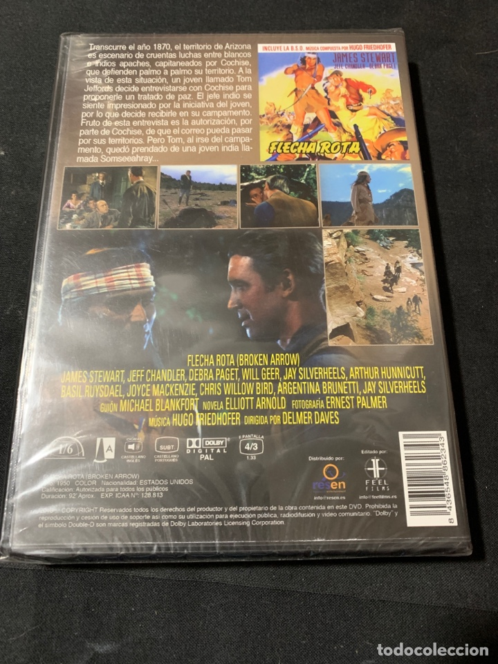 Cine: ( A45 ) FLECHA ROTA - JAMES STEWART ( dvd nuevo precintado ) - Foto 2 - 145112610