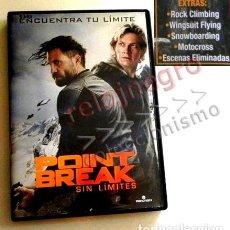 Cine: POINT BREAK SIN LÍMITES DVD PELÍCULA ACCIÓN BRACEY RAMÍREZ DEPORTE EXTREM MOTO ESCALADA SURF MONTAÑA. Lote 145203370