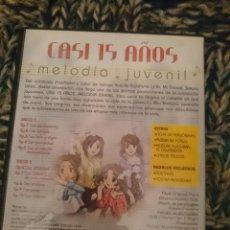 Cine: DVD - CASI 15 AÑOS -MELODIA JUVENIL -SERIE COMPLETA -VER FOTOS --REFESCDSENALARHAMI. Lote 145554442