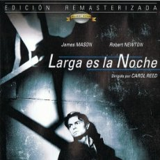 Cine: LARGA ES LA NOCHE JAMES MASON. Lote 145587686