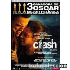 Cine: CRASH (COLISIÓN) DIRECTOR: PAUL HAGGIS ACTORES: SANDRA BULLOCK, DON CHEADLE, MATT DILLON, JENNIFER. Lote 145753562
