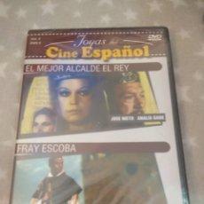 Cine: DVD. FRAY ESCOBA + EL MEJOR ALCALDE EL REY. CINE ESPAÑOL.. Lote 146130989