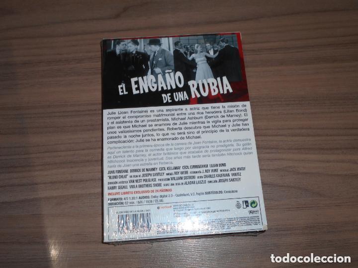 Cine: el ENGAÑO de Una RUBIA Edicion Especial DVD + LIBRO 24 Pag. JOAN FONTAINE Nueva PRECINTADA - Foto 2 - 146571536