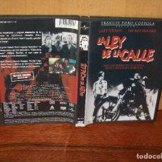 Cine: LA LEY DE LA CALLE - MATT DILLON -MICKEY ROURKE - DE FRANCIS FORD COPPOLA - DVD. Lote 198972476