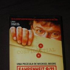 Cine: FARENHEIT 9/11 - MICHAEL MOORE. Lote 146543002