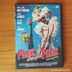 Cine: PARIS SIEMPRE PARIS -DVD- MARCELLO MASTROIANI, LUCIA BOSE, ALDO FABRIZI, LUCIANO EMMER.... Lote 146612570