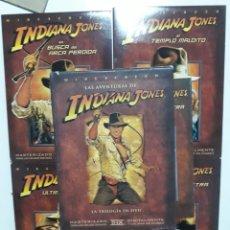 Cine: TRILOGÍA LAS AVENTURAS DE INDIANA JONES EN DVD. ( 4 DVD´S ). Lote 146935630