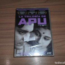 Cine: TRILOGIA APU 3 DVD LA CANCION DEL CAMINO - APARAJITO EL INVENCIBLE - APUR SANSAR NUEVA PRECINTADA. Lote 222307020