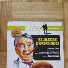 Cine: PELICULA DVD - EL ALEGRE DIVORCIADO - PACO MARTINEZ SORIA - FLORINDA CHICO. Lote 147402434