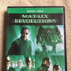 Cine: MATRIX REVOLUTIONS DVD CON KEANU REEVES. Lote 147596646