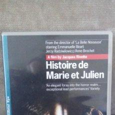 Cine: HISTOIRE DE MARIE ET JULIEN, DE JACQUES RIVETTE, CON EMMANUELLE BÉART Y JERZY RADZIWILOWICZ. Lote 147623918
