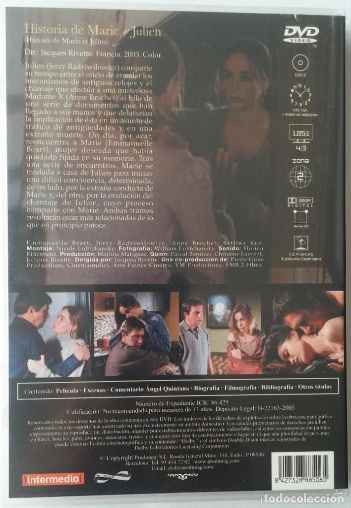 Cine: HISTORIA DE MARIE Y JULIEN (2003) - JACQUES RIVETTE - DESCATALOGADO - DVD - Foto 2 - 147625590