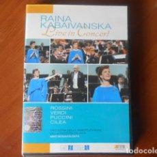 Cine: DVD-RAINA KABAIVANSKA-LIVE IN CONCERT. Lote 147863446