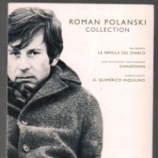 Cine: ROMAN POLANSKI COLLECTION - ROMAN POLANSKI - 3 DVD - ED PARAMOUNT CAJA + DIGIPACK DVD RF-1091 . Lote 147984882