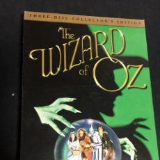 Cine: THE WIZARD OF OZ EL MAGO DE OZ DVD EDICION COLECCIONISTA 3 DISCOS FUNDA DESPLEGABLE JUDY GARLAND. Lote 148084910