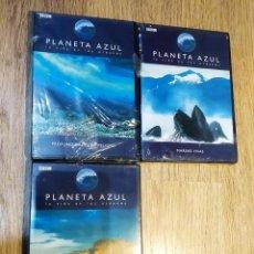 Cine: 3 DVD DOCUMENTALES BBC-PLANETA AZUL (PROFUNDIDADES EN PELIGRO, MAREAS VIVAS Y LITORALES MARINOS). Lote 148135926