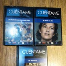 Cine: 3 DVD DE LA SERIE CUÉNTAME (UN DÍA ÉS UN DÍA, LAS INVASORAS Y UNA NOCHE BUENA CON... ESPERANZA). Lote 148137242
