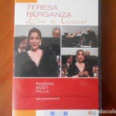 Cine: DVD-TERESA BERGANZA-LIVE IN CONCERT. Lote 148177486