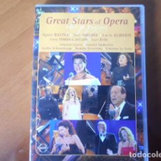Cine: DVD-GREAT STARS OF OPERA-LIVE IN CONCERT. Lote 148310550