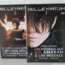 Cine: PACK PELÍCULAS DVD MILLENIUM I Y MILLENIUM II. MICHAEL NYQVIST Y NOOMI RAPACE.. Lote 148397701
