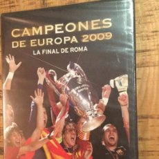 Cine: BARCELONA FC - MANCHESTER UNITED -DVD- CHAMPIONS LEAGUE 2009-ROMA-PRECINTADO. Lote 148852842