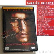 Cine: LA VENTANA SECRETA DVD PELÍCULA SUSPENSE ¿ TERROR ? JOHNNY DEPP - STEPHEN KING - EXTRAS DOCUMENTALES. Lote 148855870